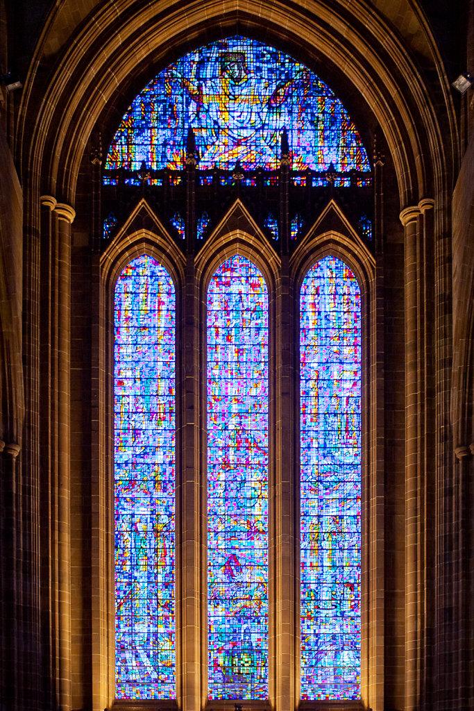 Fenster in der Liverpool Cathedral