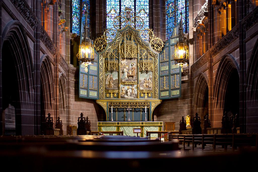 Nebenaltar in der Liverpool Cathedral