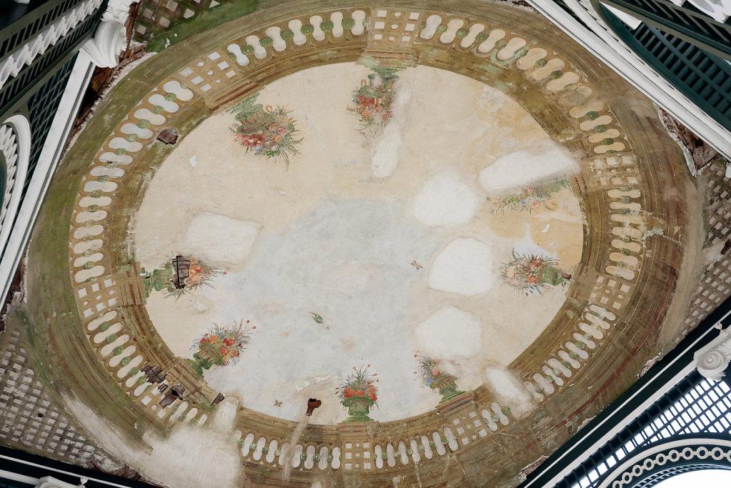Deckenmalerei im Pavillion Schlosspark Schönbrunn