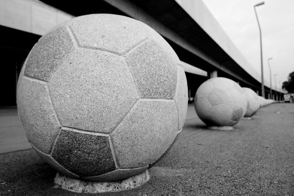 Fußballwegbegrenzung