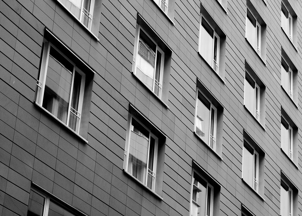 Fensterfront am Potsdamer Platz