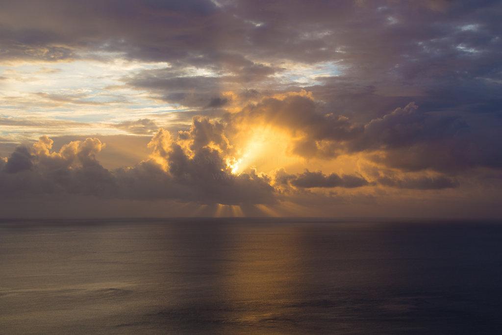 Sonnenuntergang in Glacis (Mahé)