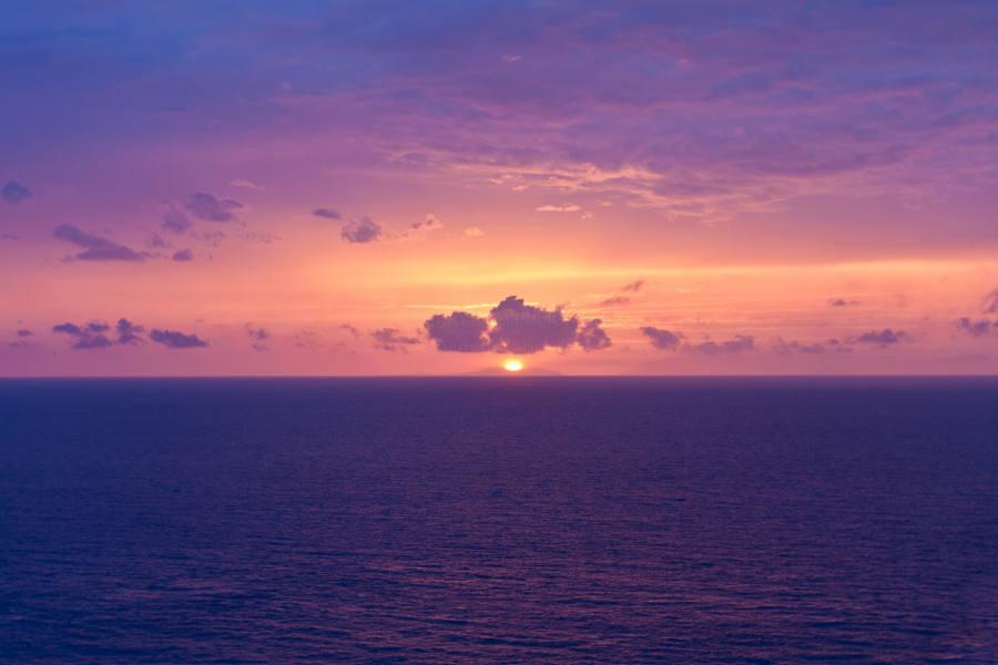 Sonnenuntergang vor den Aeolischen Inseln