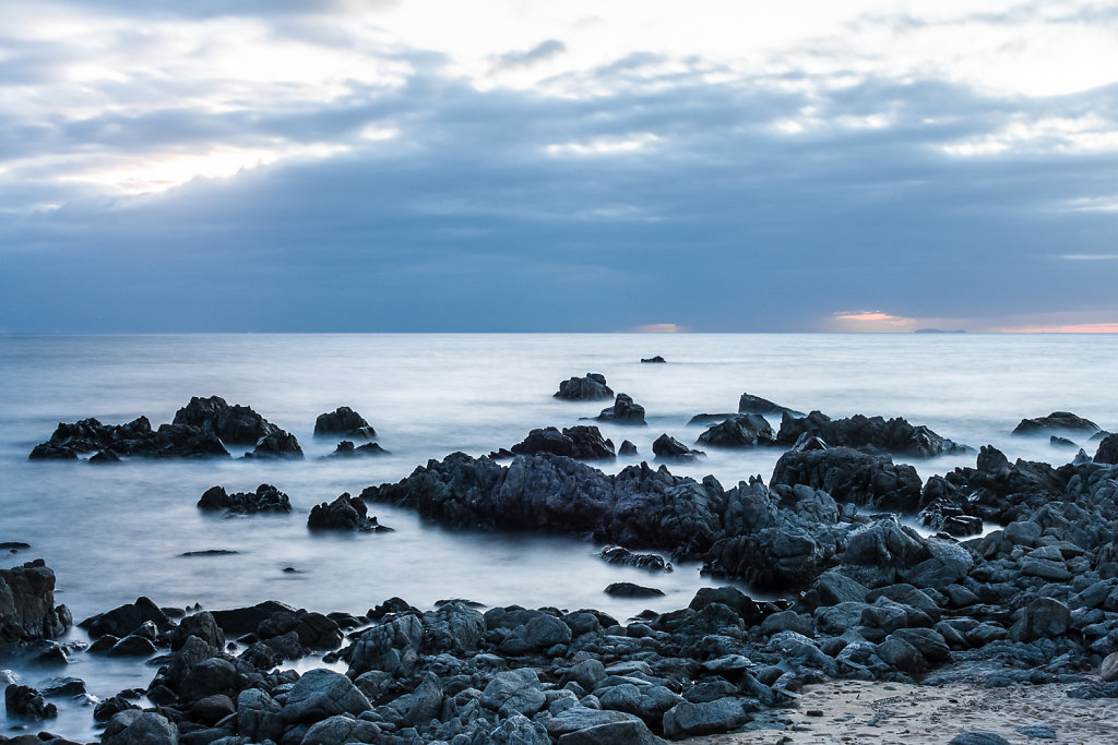 Sonnenuntergang am Strand von Santa Maria