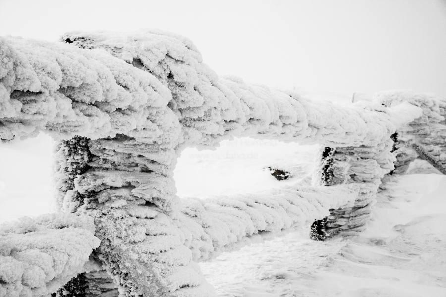 Auf dem verschneiten Brocken